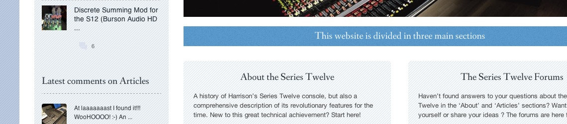Harrison-Series-Twelve-User-Group-bande
